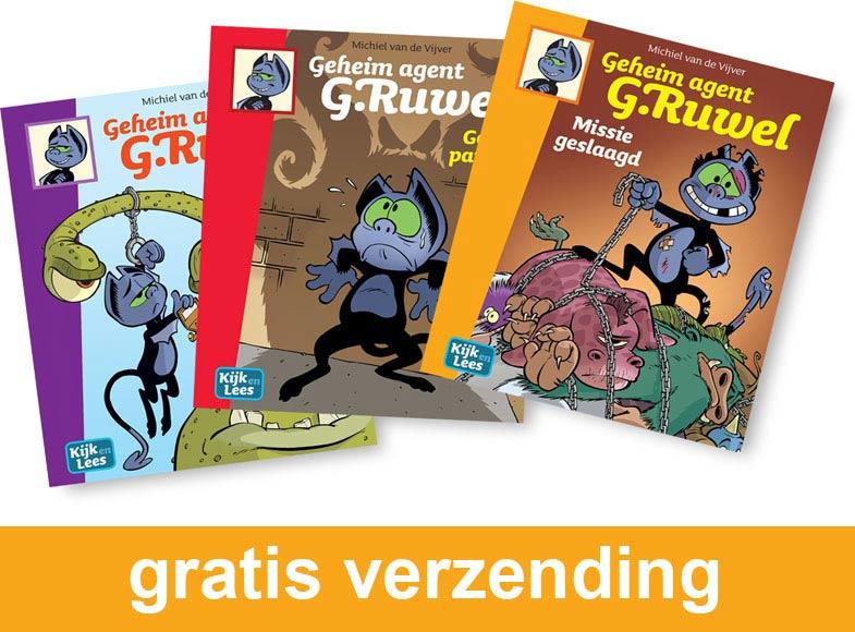 Groep 5 leespakket Geheim agent G. Ruwel | AVI E4 - M5 - E5