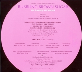 Programmaboek Bubbling Brown Sugar