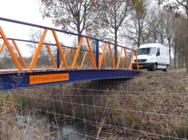 Voetgangersbrug Flevo-Landschap