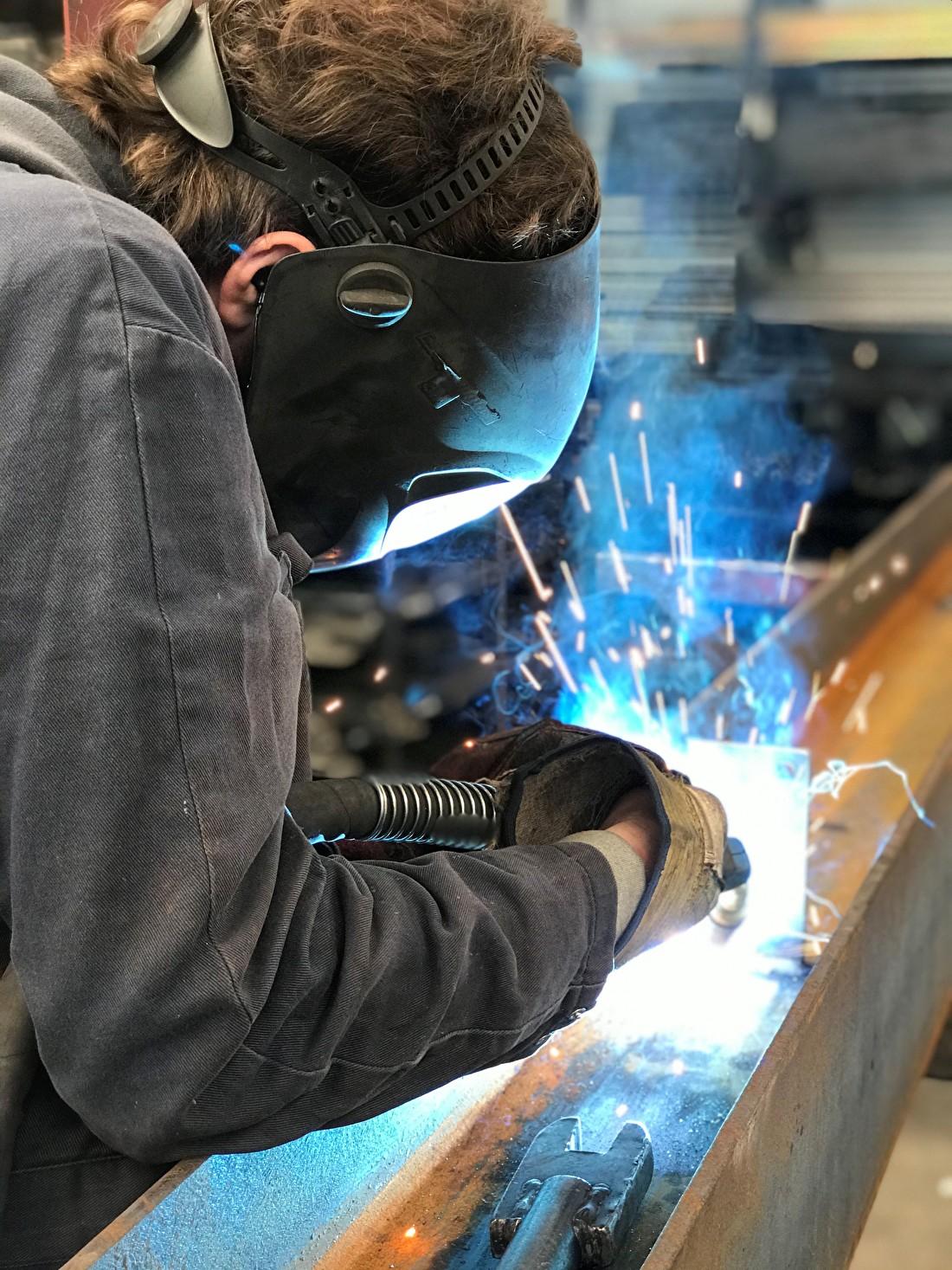 Laswerk staalconstructie