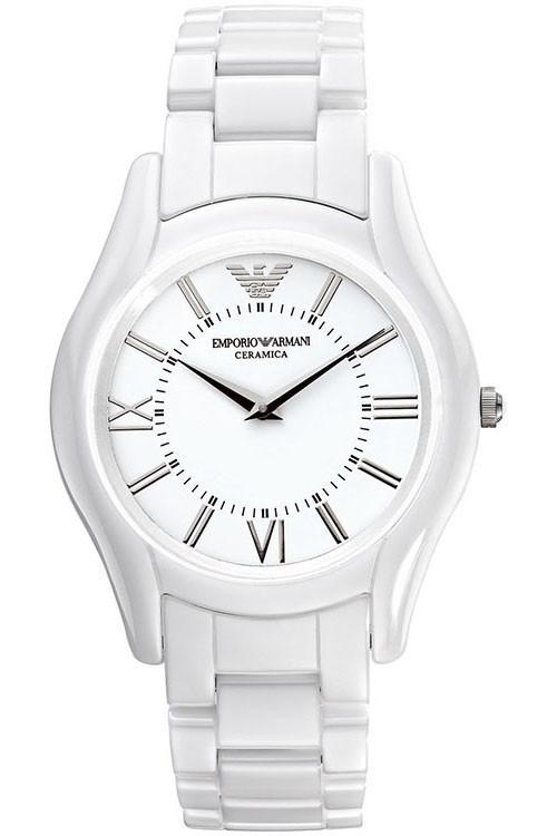 Armani horloge AR1443. Wit Ceramica!