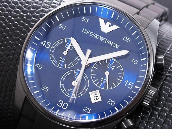 armani horloge zwart-blauw ar5921