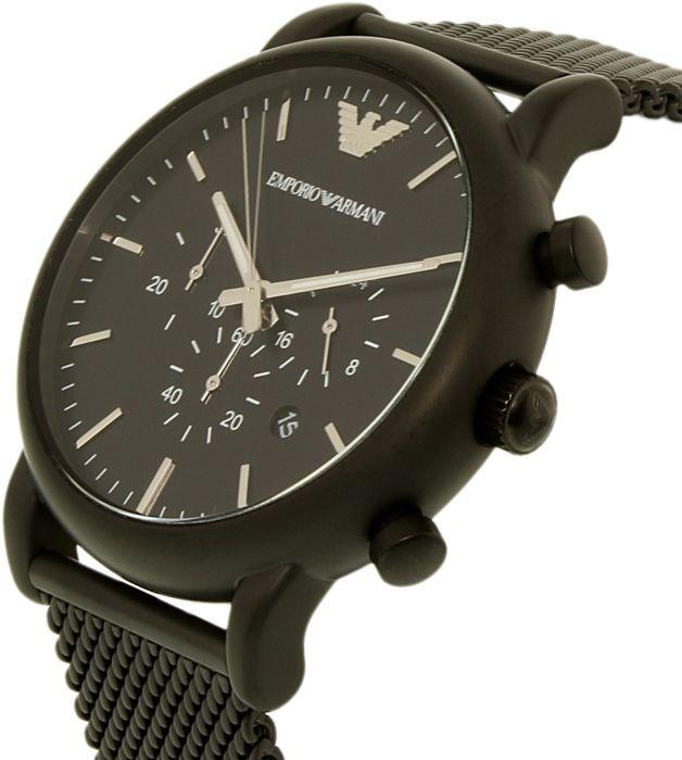 armani horloge ar1968 zwart