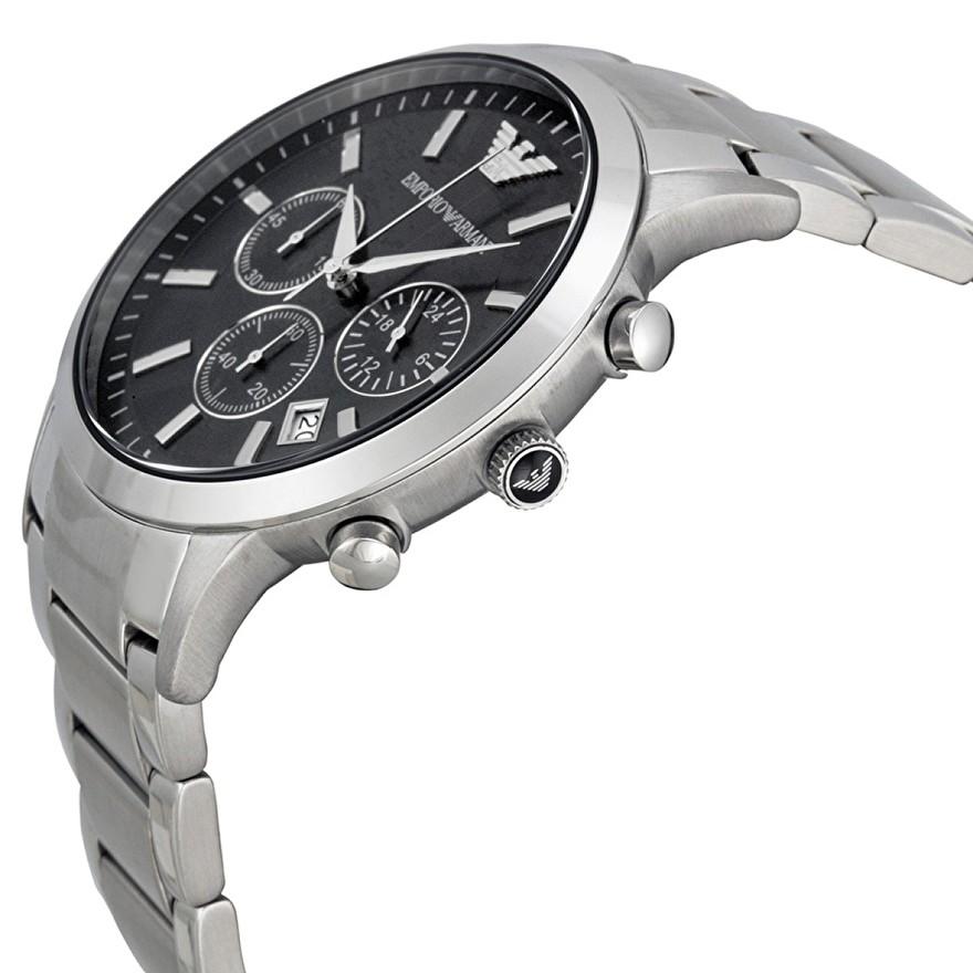 armani ar2434 horloge zilver zwart