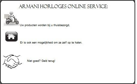Armani horloges online service