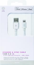Lightning usb-data kabel 1 meter