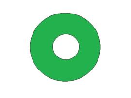 Popbumper Speelveld Protector Groen 9 cm (nieuw)