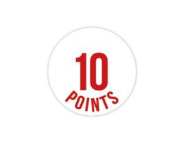 Cap Decal 10 Points Rood (nieuw)