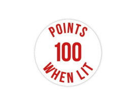 Cap Decal 100 Points When Lit Rood (nieuw)