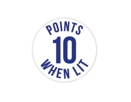 Cap Decal 10 Points When Lit Blauw (nieuw)