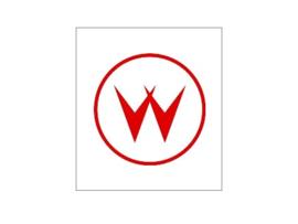 Munt Inworp Decal Williams Logo Rood (nieuw)