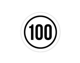 Cap Decal 100 Met Cirkel Zwart (nieuw)