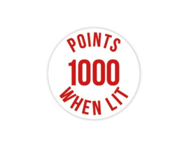 Cap Decal 1000 Points When Lit Rood (nieuw)