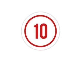 Cap Decal 10 Met Cirkel Rood (nieuw)