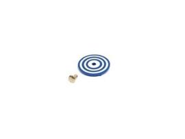 Target Face Rond Bullseye Wit/Blauw (nieuw)