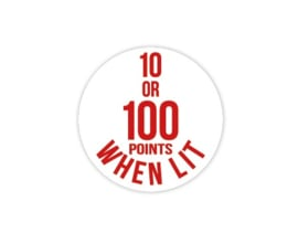 Cap Decal 10 Or 100 Points When Lit Rood (nieuw)