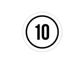 Cap Decal 10 Met Cirkel Zwart (nieuw)