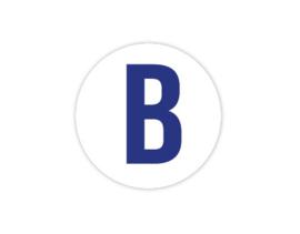Cap Decal B Blauw (nieuw)