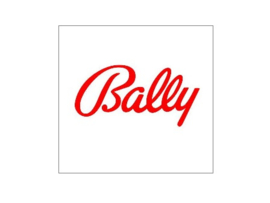Munt Inworp Decal Bally Logo Rood (nieuw)