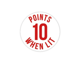 Cap Decal 10 Points When Lit Rood (nieuw)
