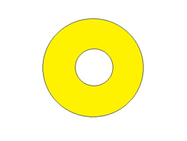 Popbumper Speelveld Protector Geel 9 cm (nieuw)
