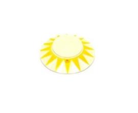 Popbumper Cap Sun Geel / Blanco (nieuw)