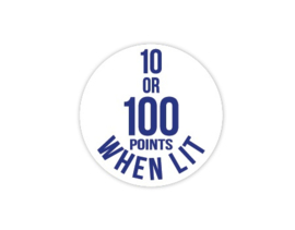 Cap Decal 10 Or 100 Points When Lit Blauw (nieuw)
