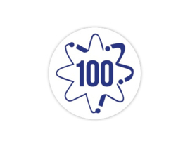 Cap Decal 100 Met Atoom Blauw (nieuw)