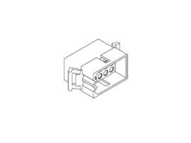 "Molex Connector Male 0,093"" 12 Polig (nieuw)"
