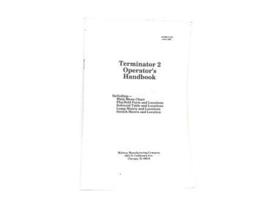 Operators Handbook Williams - Terminator 2 (gebruikt)