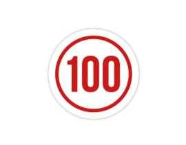 Cap Decal 100 Met Cirkel Rood (nieuw)
