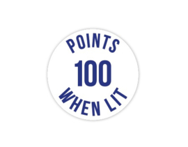 Cap Decal 100 Points When Lit Blauw (nieuw)
