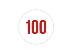 Cap Decal 100 Rood (nieuw)