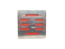 Speaker Cover RVS / Rood (gebruikt)