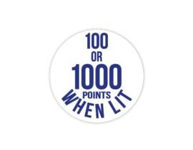 Cap Decal 100 Or 1000 Points When Lit Blauw (nieuw)