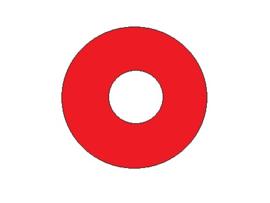 Popbumper Speelveld Protector Rood 9 cm (nieuw)