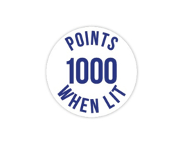 Cap Decal 1000 Points When Lit Blauw (nieuw)