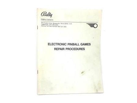 Manual Bally - Repair Procedures 1980 (gebruikt)