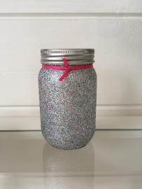 Glitter pot Zilver