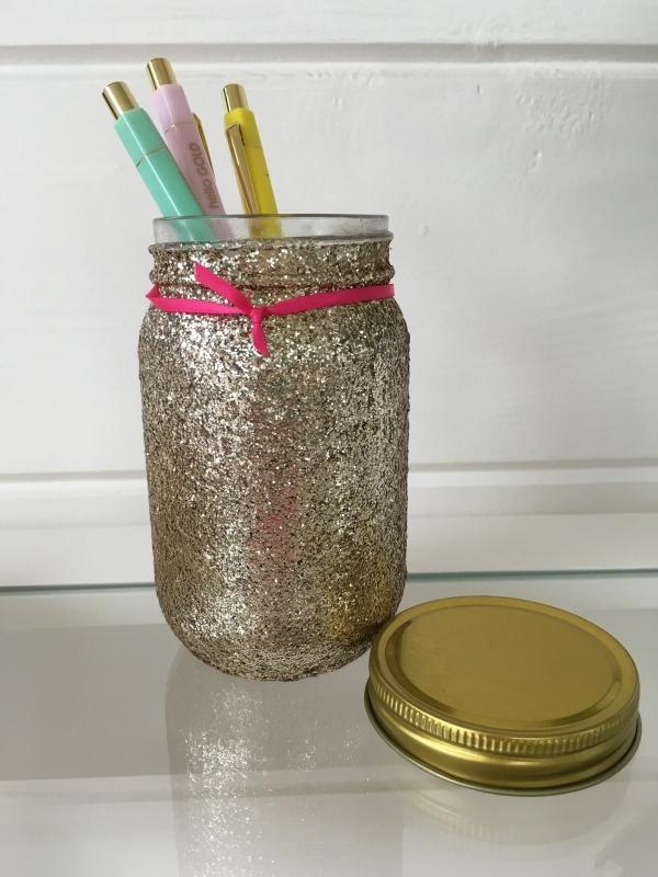 Glitter pot Goud