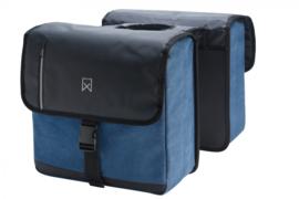 Willex dubbele Canvas kantoortas blauw/zwart 46l