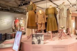 Mode op de bon in het Verzetsmuseum Amsterdam, dinsdag 28 april 2020