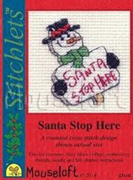 Borduurpakket Santa stop here - Mouseloft