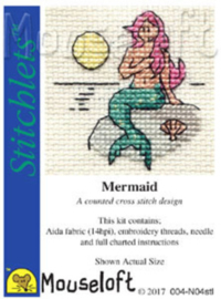 Borduurpakket mermaid - Mouseloft
