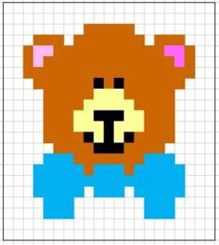 Borduurpakketje beer - LielDesign