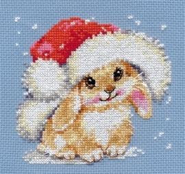 Borduurpakket Winter bunny - Alisa