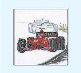 Borduurpakket auto race - Thea Gouverneur