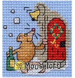 Borduurpakket Christmas party mouse - Mouseloft