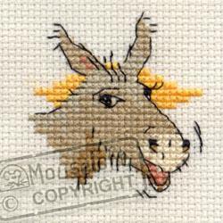Borduurpakket braying donkey - Mouseloft