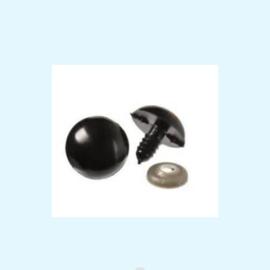 Veiligheidsoogjes zwart vanaf 5 mm